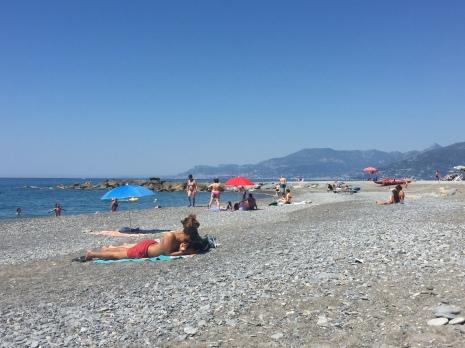 Beach in Bordighera