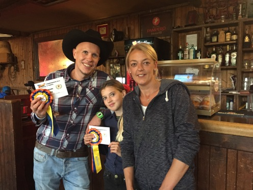 Luca and Nicole with their trainer Barbara