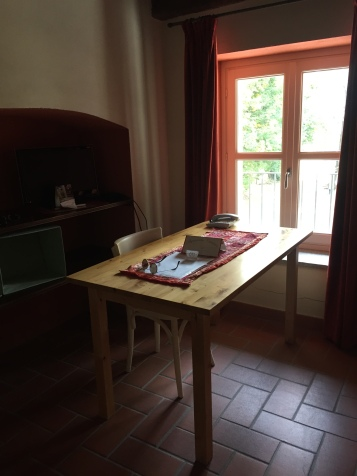 A desk in the room