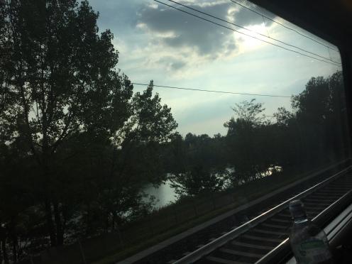 A lake near the railway