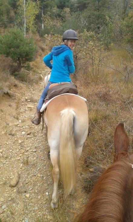 Riding in the bush