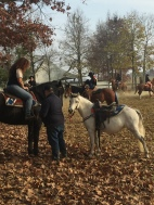 Getting ready for barrel racing