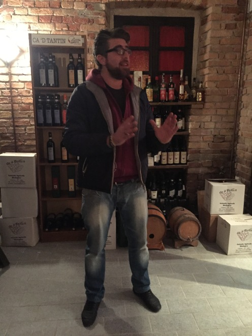 Marco teaching about wine