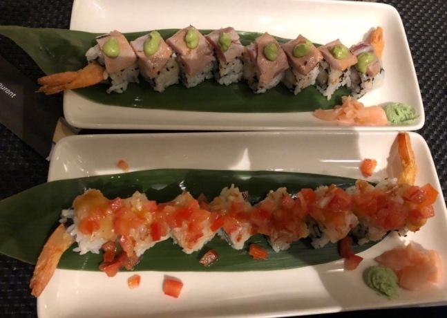 tuna and shrimps