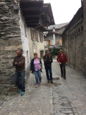 Walking through the tiny streets