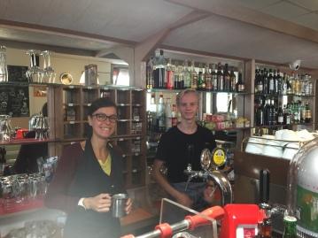Jonas as a bartender