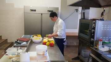Florian working