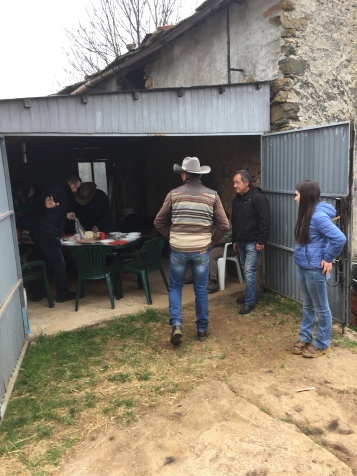 Lunch in the stable